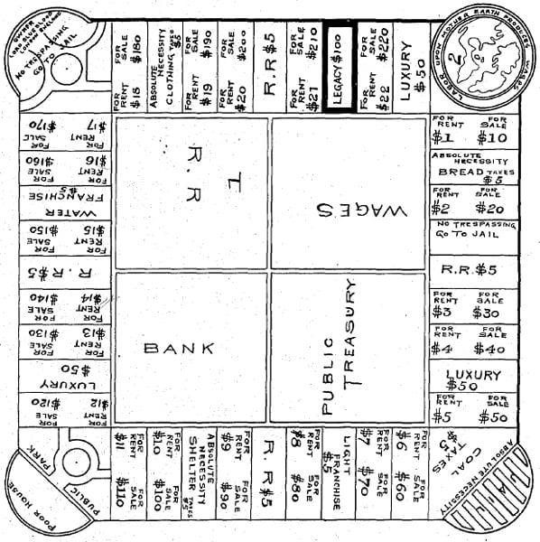 Prima bozza del Monopoli