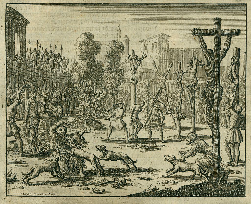 Jan Luyken, Persecuzione degli imperatori Diocleziano e Massimiano
