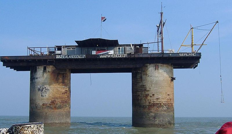 La piattaforma su cui sorge Sealand: HM Fort Roughs