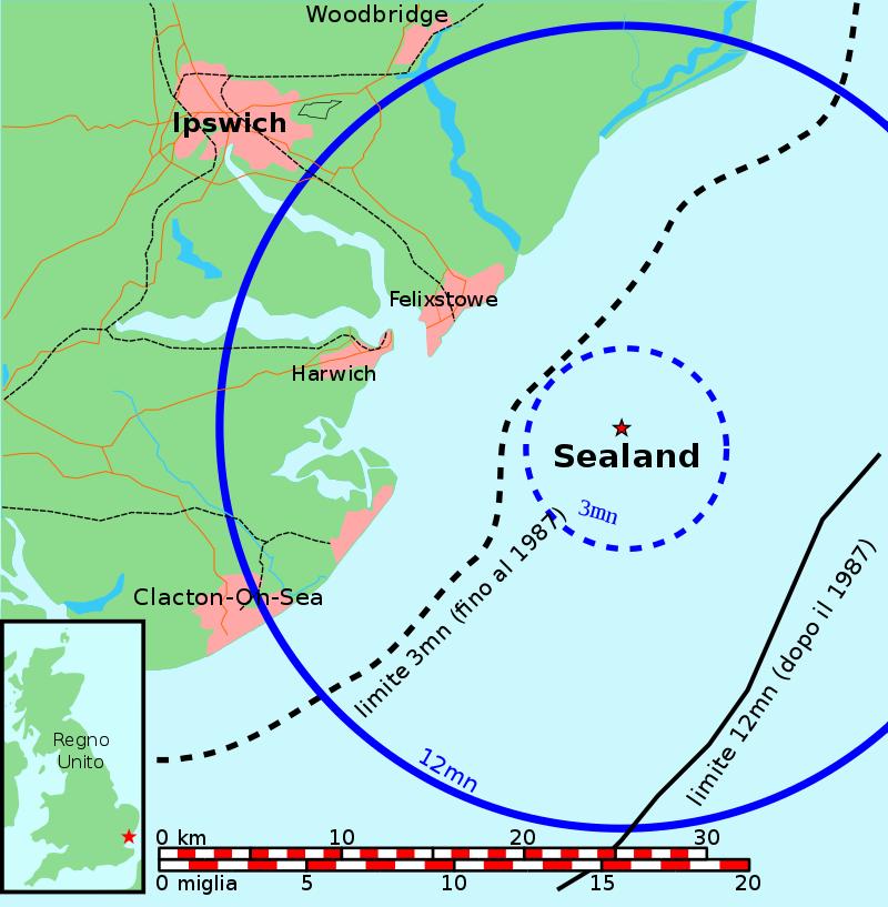 Dove si trova Sealand