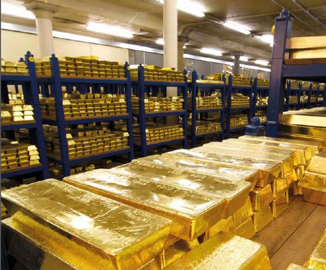 Oro nella banca di Inghilterra