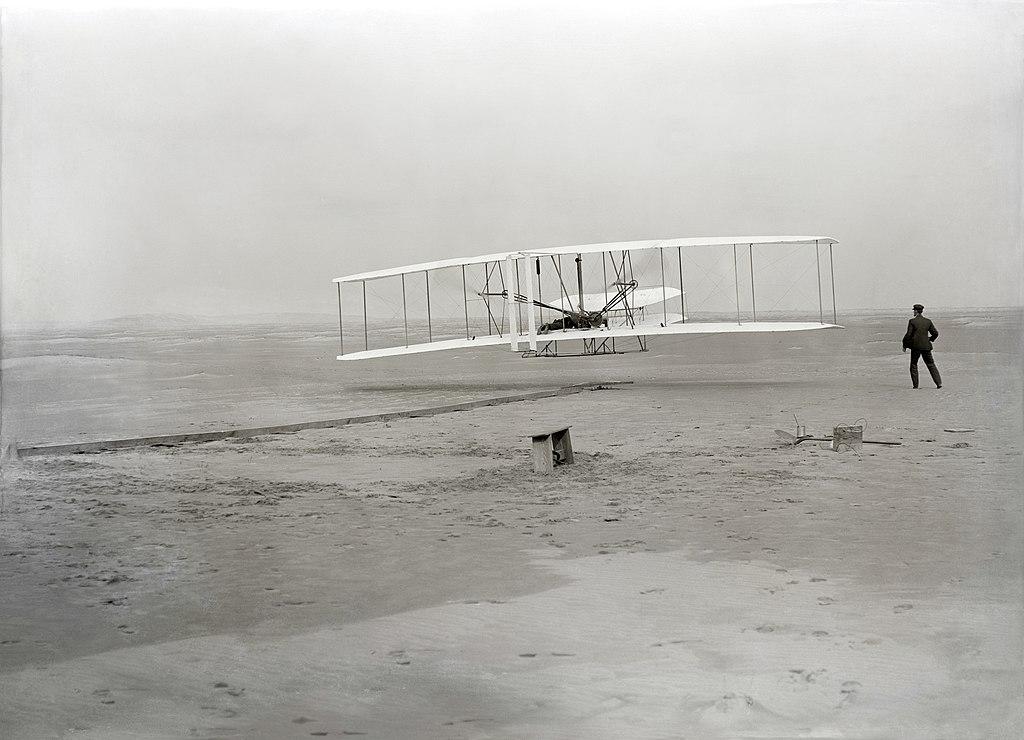 Uno dei primi aerei dei fratelli Wright