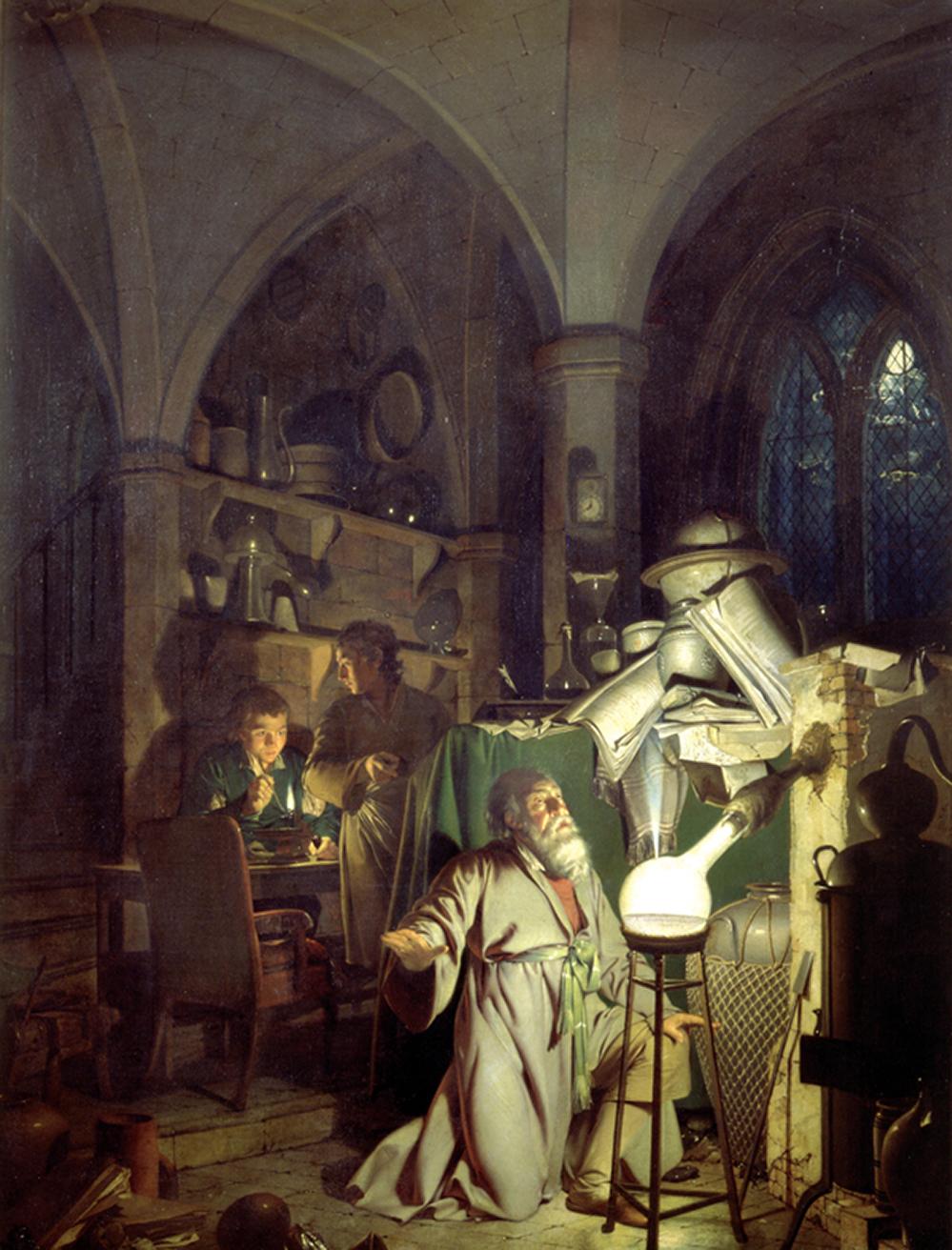 L'Alchimista che scopre il fosforo, Joseph Wright, 1771