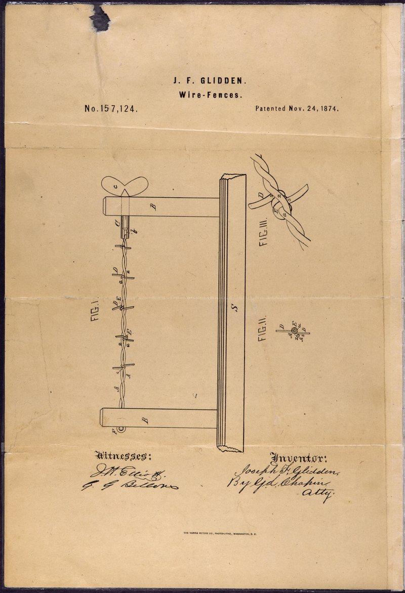 Il brevetto del filo spinato
