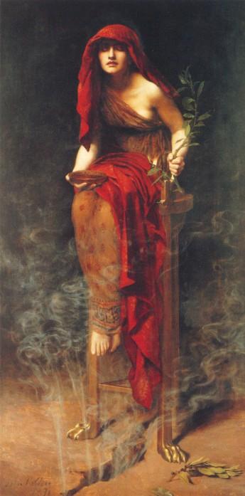 Priestess of Delphi (1891) di John Collier