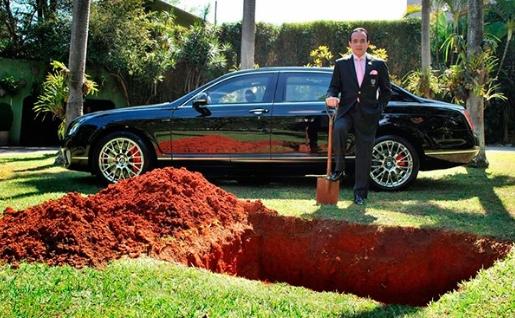 Milionario annuncia che vuole seppellire la propria Bentley