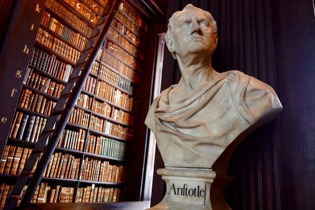 biblioteca trinity college dublino. Busto di Aristotele