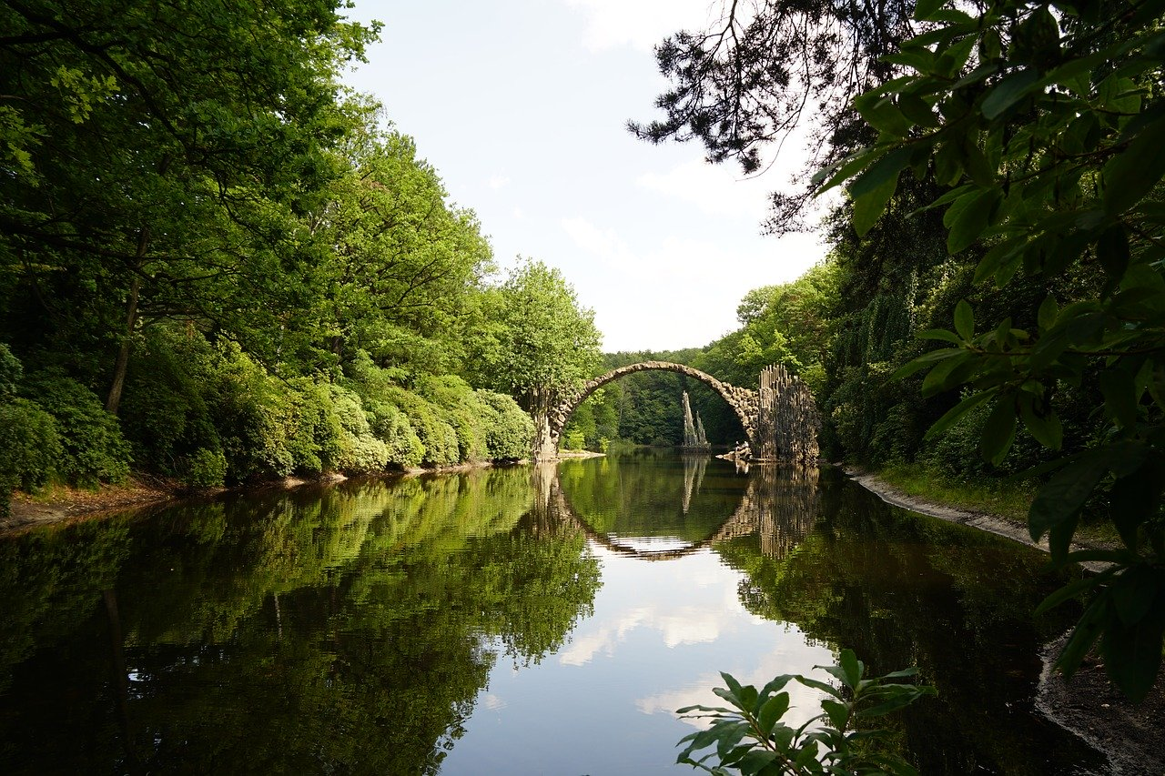 Rakotzbrücke, Ponte diavolo Kromlau Germania
