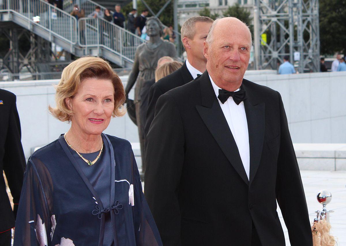 Re Harald di Norvegia e la moglie