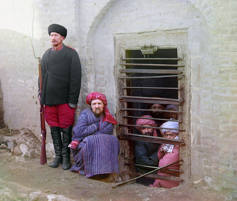 Prigione di Zindan a Bukhara, 1907